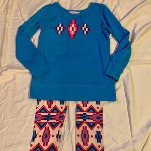Kaya's Blue Pattered Pajama Set